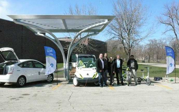 Solar electric Car charging Station
